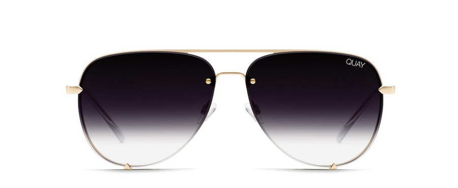 QUAY HIGH KEY RIMLESS : GOLD/FADE - ShopSpoiled