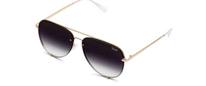 QUAY HIGH KEY  MINI RIMLESS : GOLD/FADE - ShopSpoiled