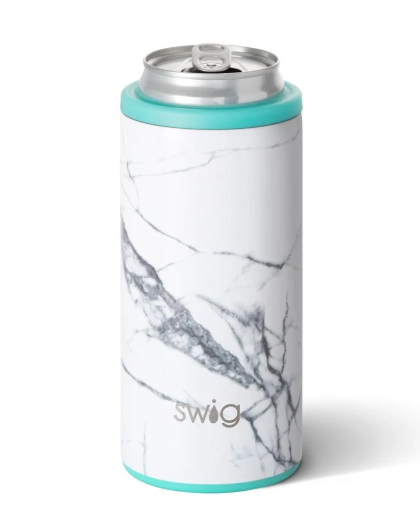Swig Skinny Can Cooler: Marble - ShopSpoiled