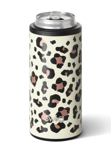 Swig Skinny Can Cooler: Leopard - ShopSpoiled