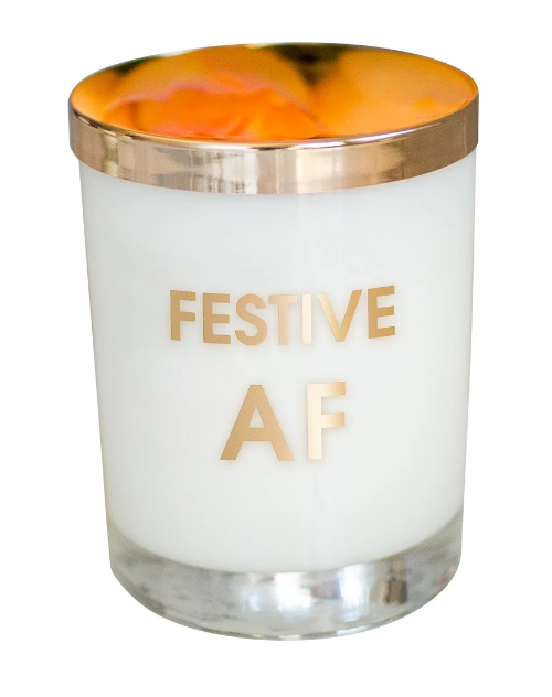 Festive AF Gold Foil Candle - ShopSpoiled