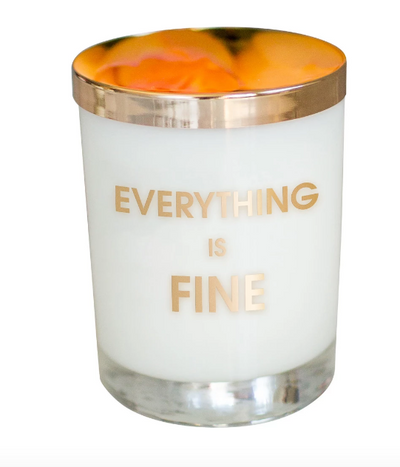 Everything Is Fine Candle - ShopSpoiled