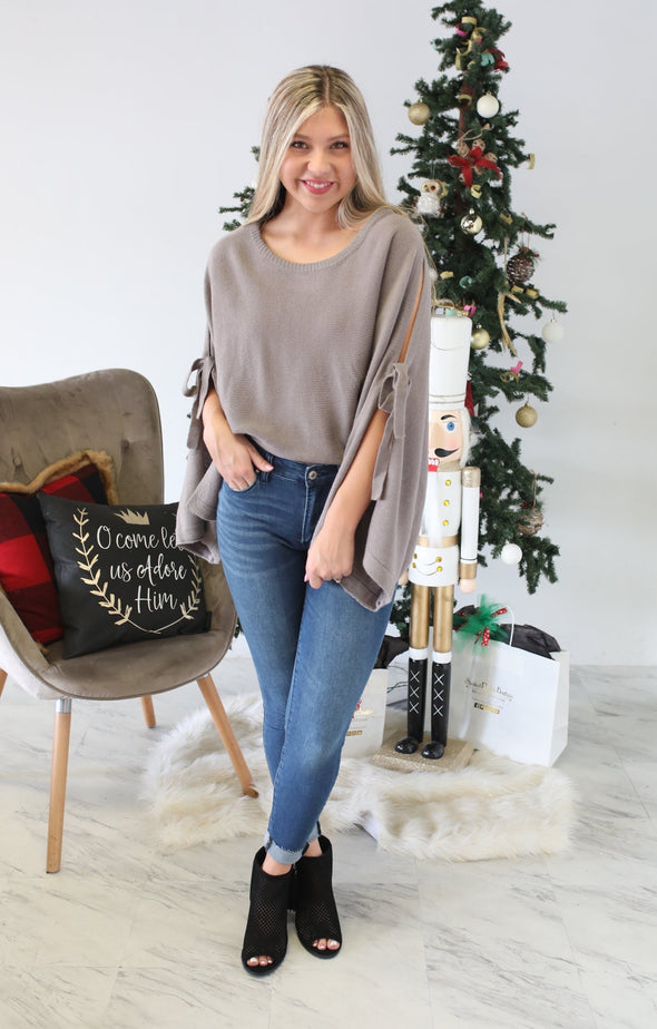 See for Yourself Sweater: Pearl Grey - ShopSpoiled