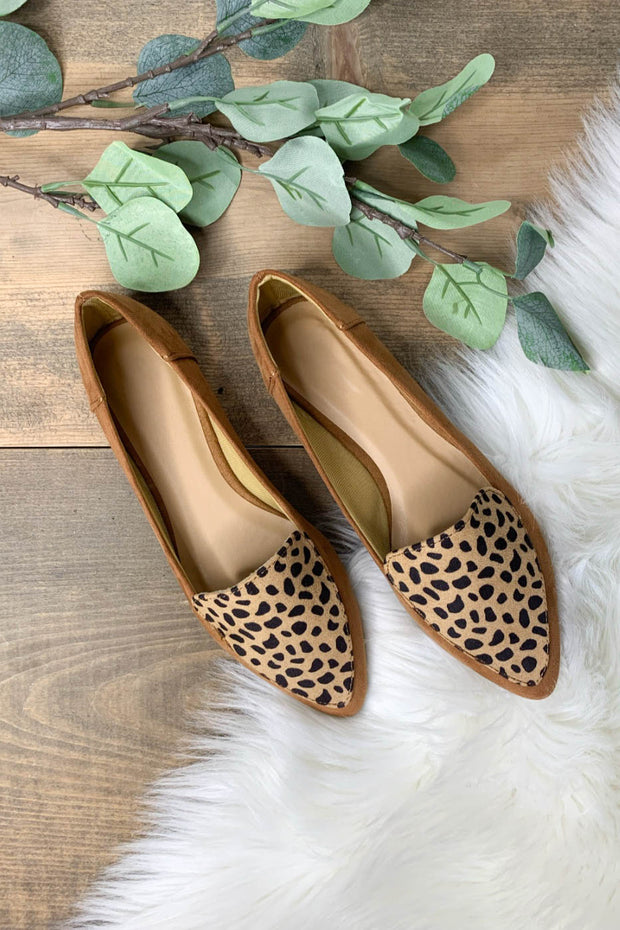Elsi Flats: Tan Leopard - ShopSpoiled
