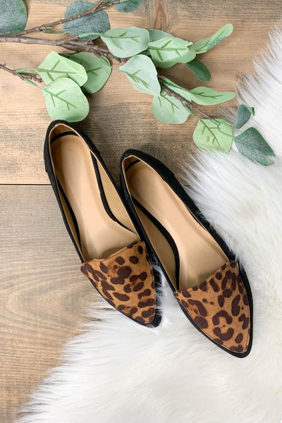 Elsi Flats: Black Leopard - ShopSpoiled