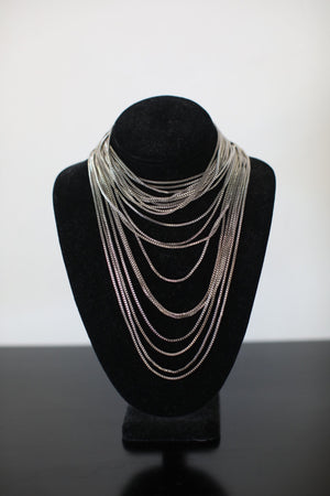 Silver Layered Necklace - ShopSpoiled