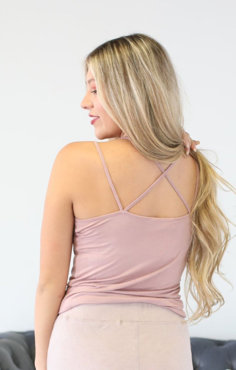 Dusty Road Tank: Dusty Pink - ShopSpoiled