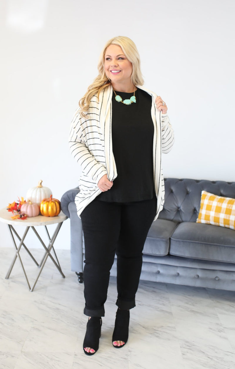 To A Tee Cardigan - ShopSpoiled