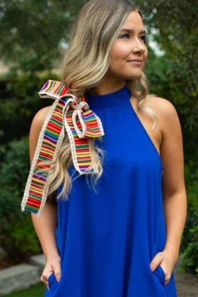 Striped Hair Scarf - ShopSpoiled