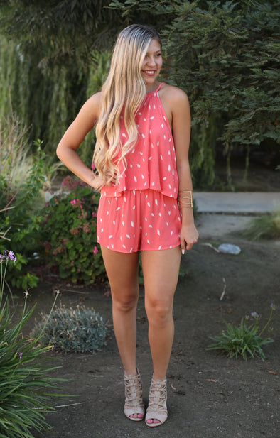 Make My Day Two Piece: Coral - ShopSpoiled