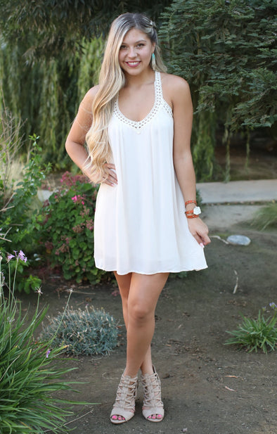 Must Be Doing Something Right Dress: Ivory - ShopSpoiled