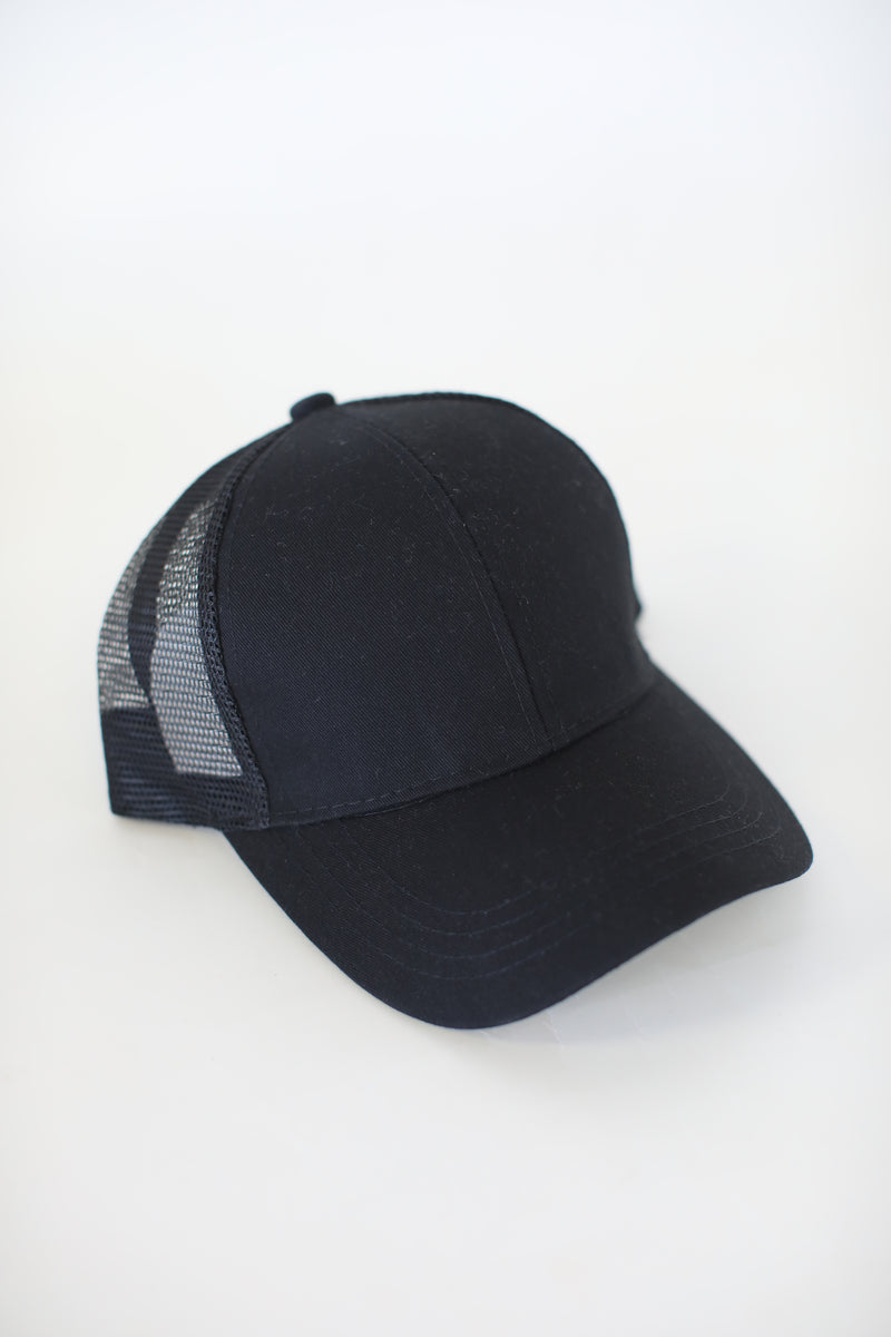 Pony Trucker Cap: Black - ShopSpoiled