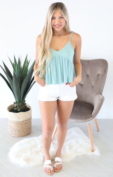 On The Daily Top: Blue Green - ShopSpoiled