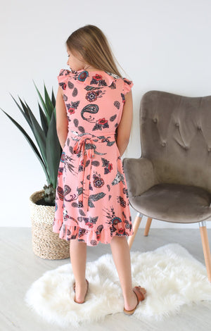Kids Boho Wrap Dress - ShopSpoiled