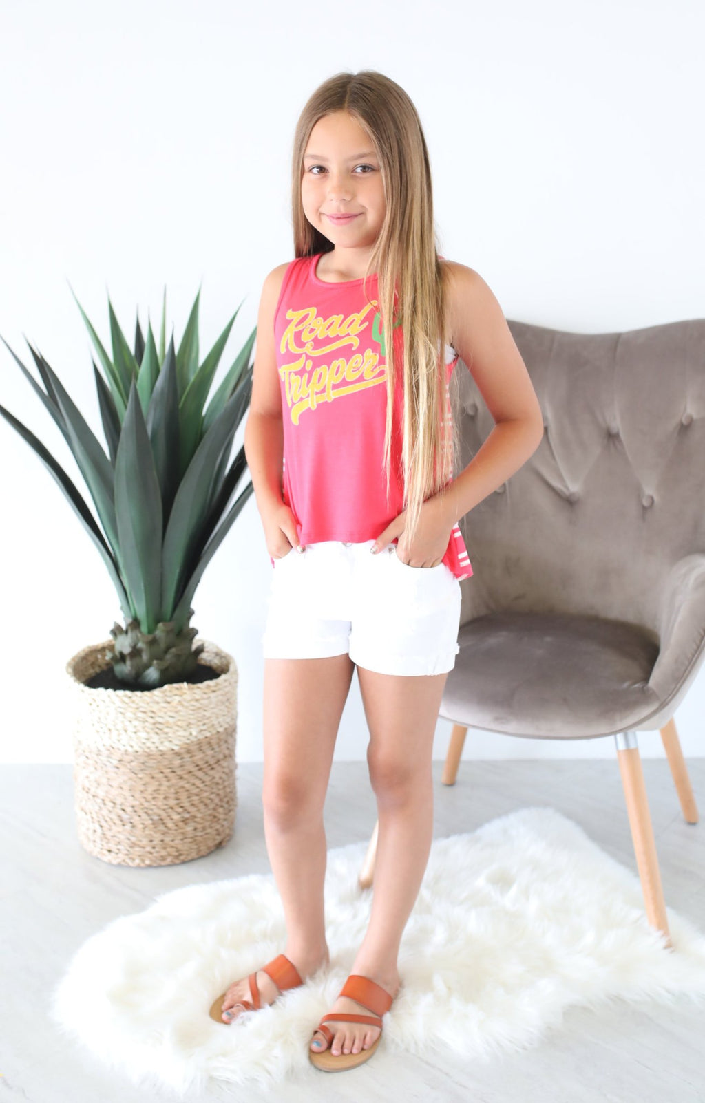 Road Tripper Tank: Coral - ShopSpoiled