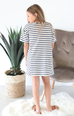 Brianna Striped Kids Dress - ShopSpoiled