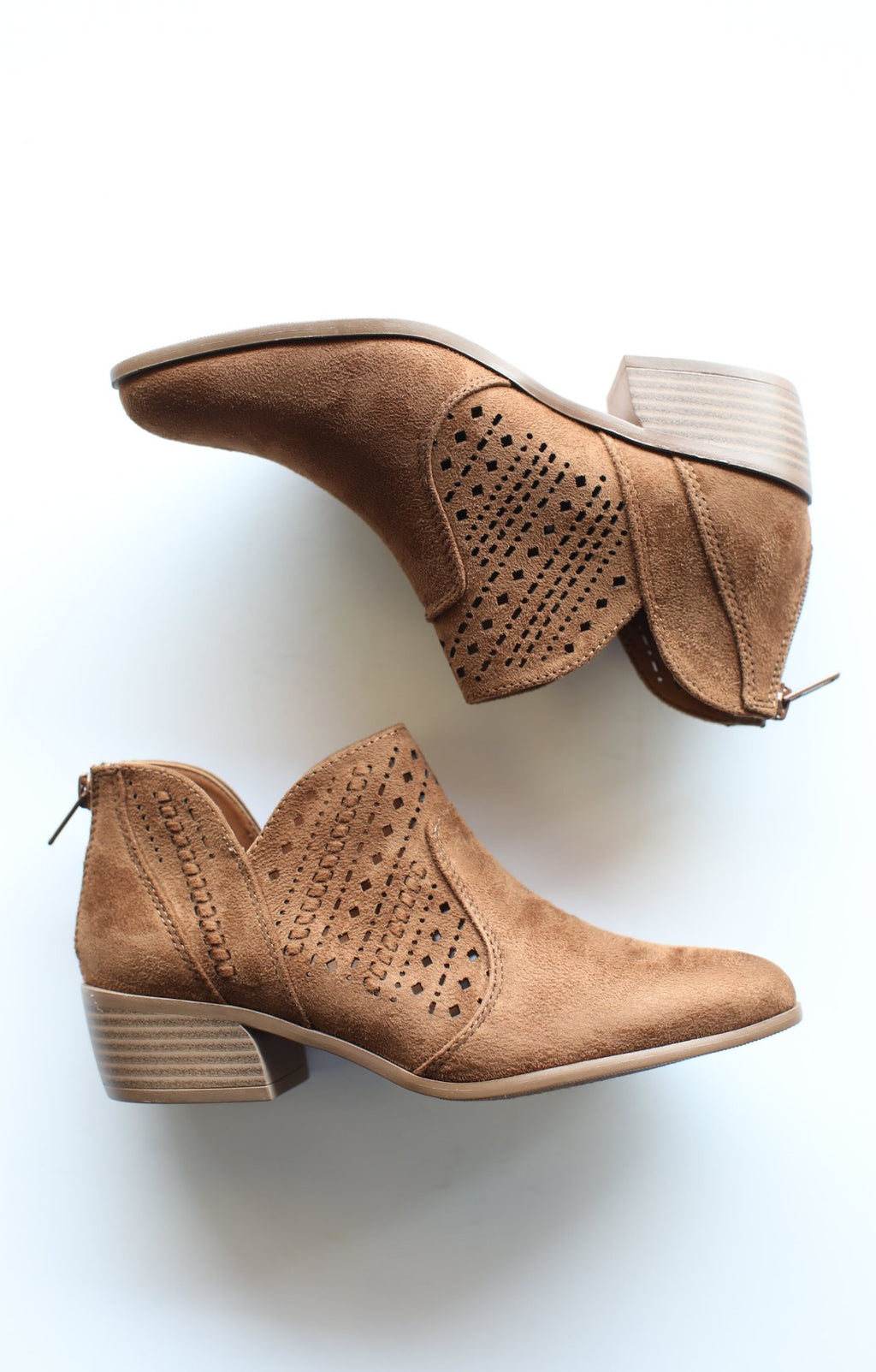 Emerge Booties: Chestnut - ShopSpoiled