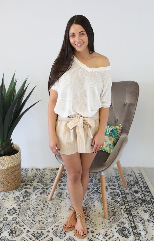 Favorite Shorts: Taupe - ShopSpoiled