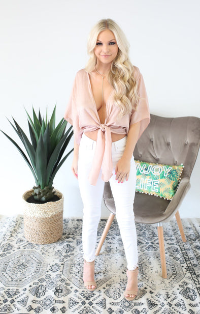 Cocktail Hour Top: Blush - ShopSpoiled