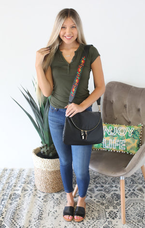 Leather Embroidered Purse Straps - ShopSpoiled
