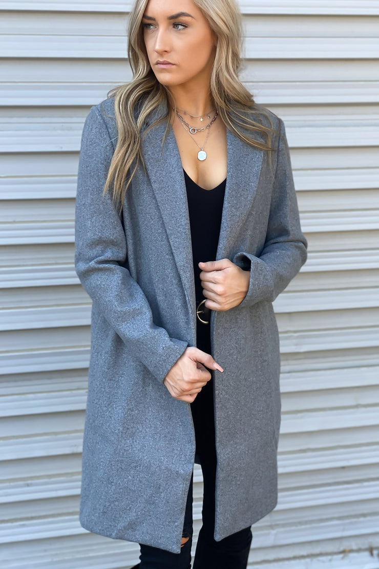 Warm Me Up Coat: Grey - ShopSpoiled