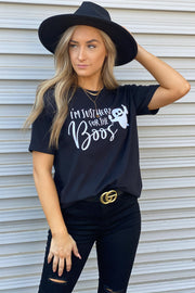 Here For The Boos Tee: Black - ShopSpoiled