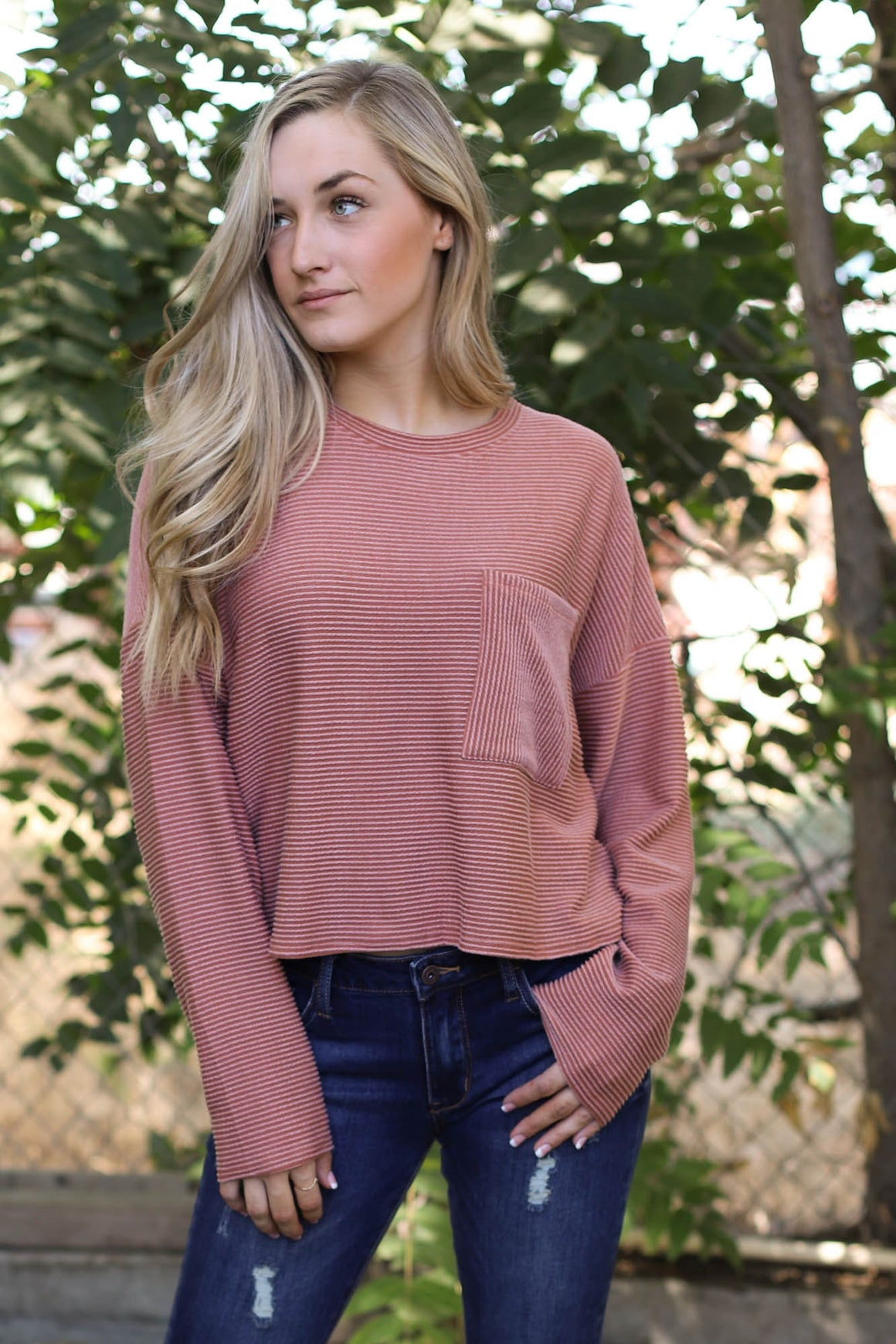 Reese Pullover: Rust - ShopSpoiled
