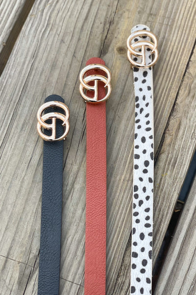 Micro GG Belt 3pack: White Cheetah Print - ShopSpoiled