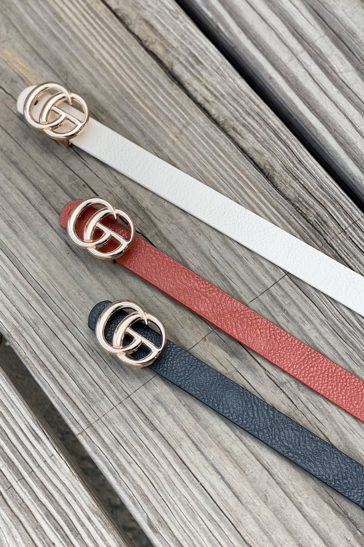 Micro GG Belt 3pc: Rust/Black/Ivory - ShopSpoiled