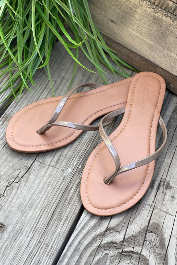 Belle Sandals: Taupe - ShopSpoiled