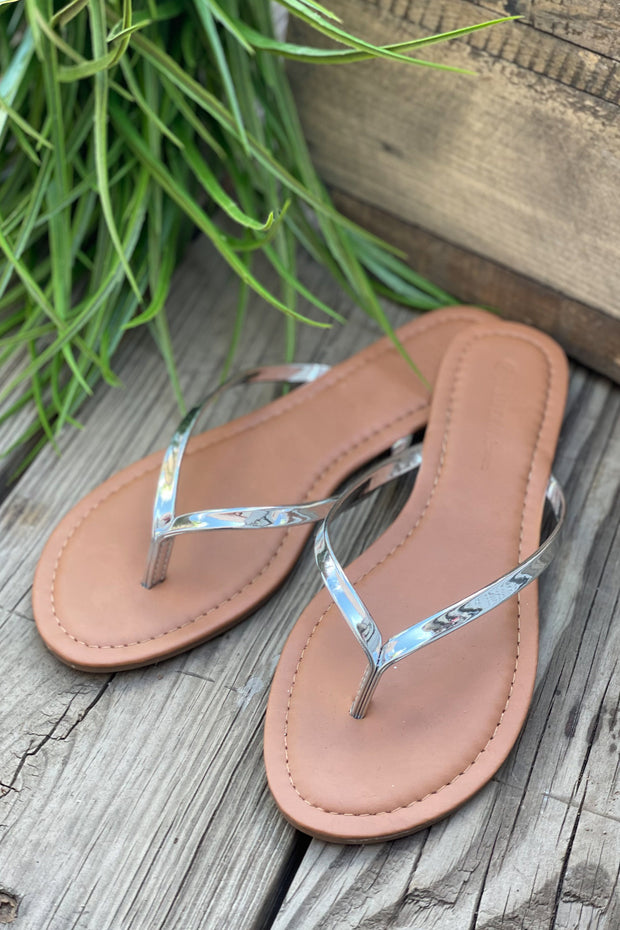 Belle Sandals: Silver - ShopSpoiled