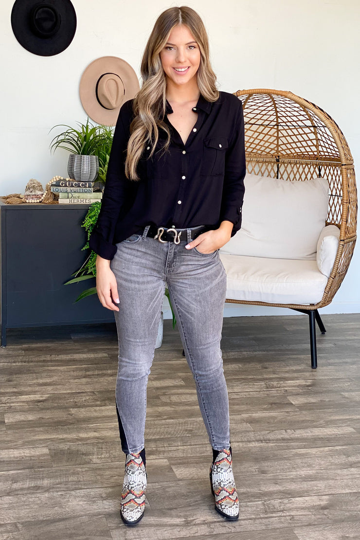 Style Win Button Down Top - ShopSpoiled