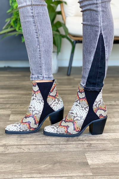 Brea Booties: Multi Snake Print - Shop Spoiled Boutique