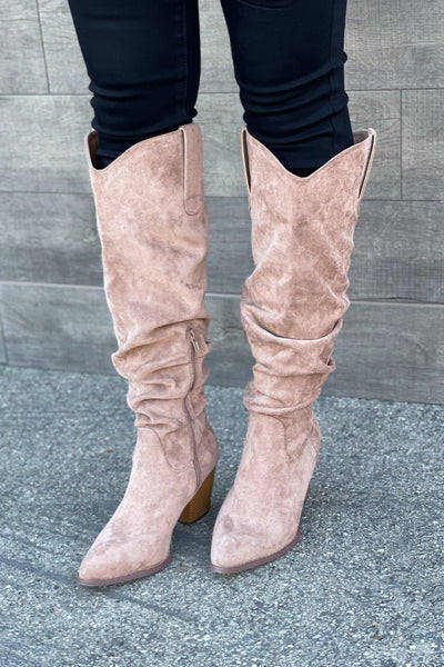 Marrin Boots: Taupe - ShopSpoiled