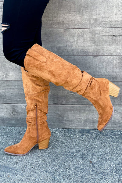 Marrin Boots: Tan - ShopSpoiled