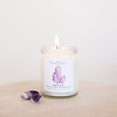 Amethyst Crystal 9oz Candle - ShopSpoiled