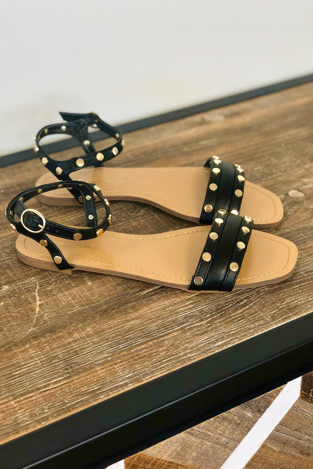 Sadie Sandals: Black - ShopSpoiled