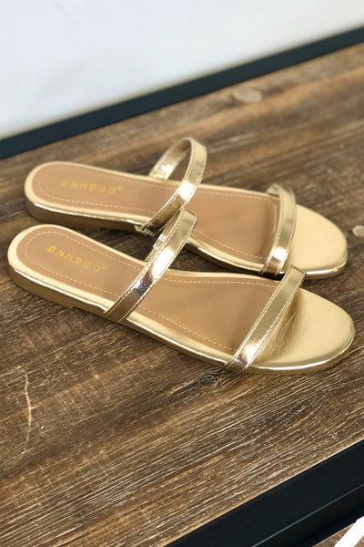 Julia Sandals: Gold - ShopSpoiled