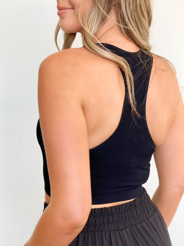 Basic Bailey Racerback Crop Tank - ShopSpoiled