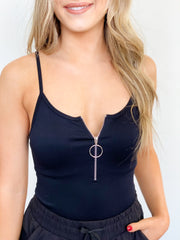 Basic Logan Tank Bodysuit - ShopSpoiled