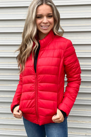 Puffer Jacket: Red - ShopSpoiled