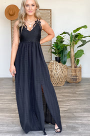 Lover of Details Maxi Dress: Black - ShopSpoiled