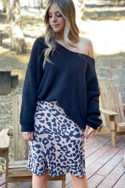 Lonely Heart Skirt: Taupe - ShopSpoiled