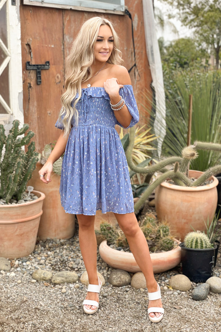 Easy To Love Dress: Blue - ShopSpoiled