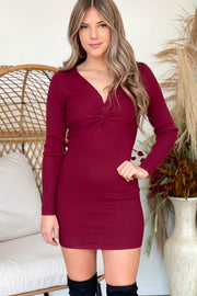 Cabernet Nights Dress: Burgundy - ShopSpoiled