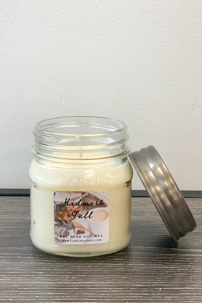 Midwest Fall Mason Jar Candle: 8 OZ - Shop Spoiled Boutique