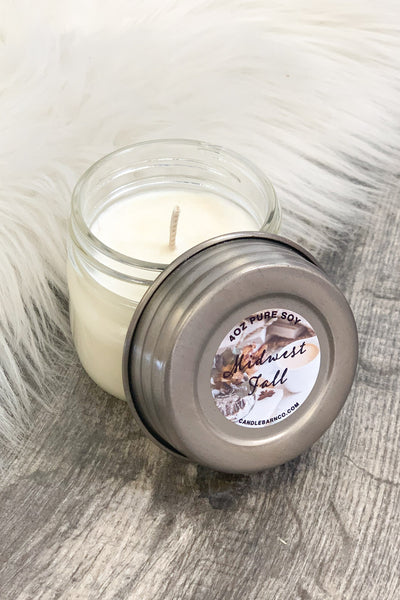 Midwest Fall Mason Jar Candle: 4 OZ - ShopSpoiled
