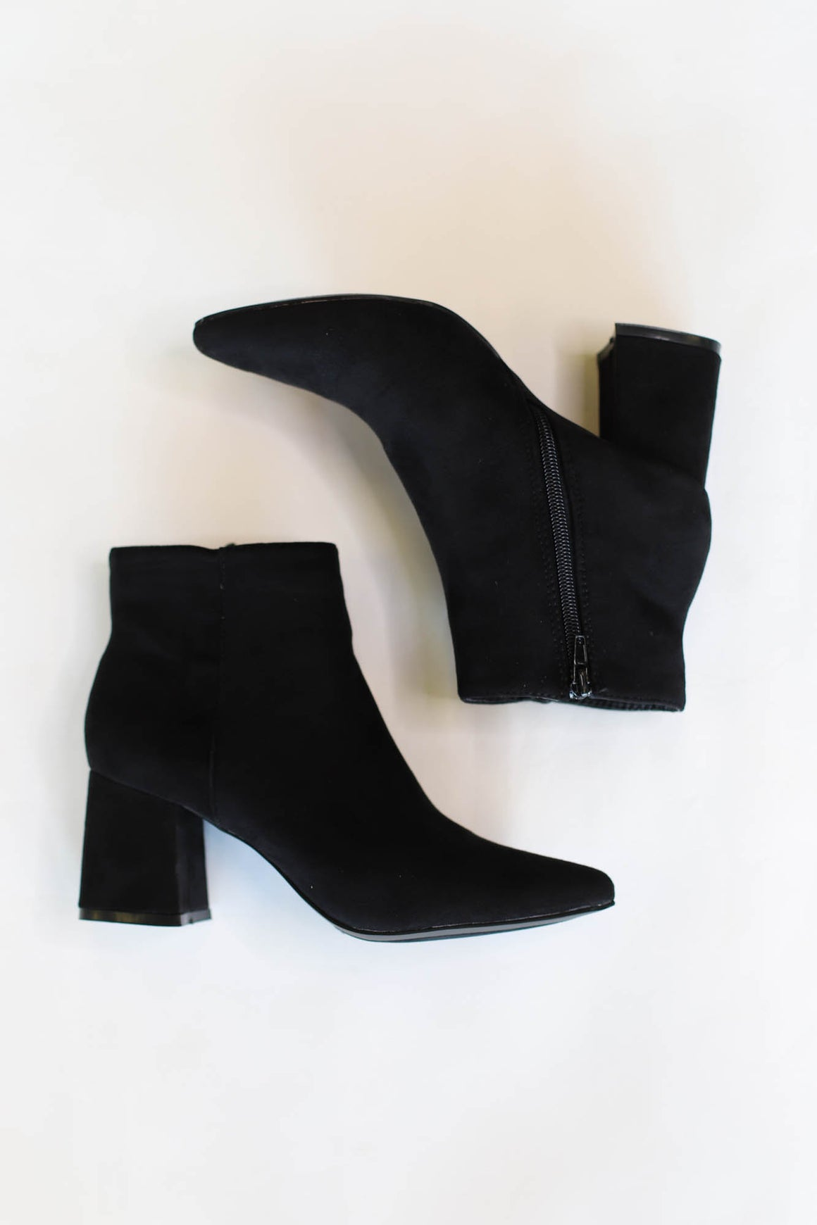 Vanessa Booties: Black Suede - ShopSpoiled