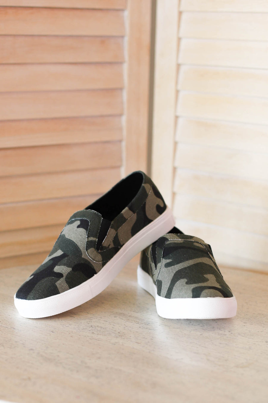 Camo Slip Ons - ShopSpoiled