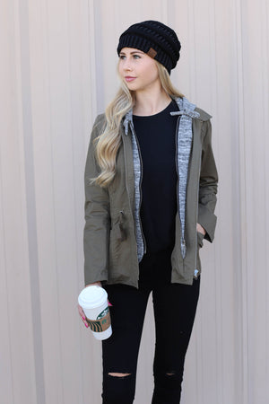Maria Jacket: Olive - ShopSpoiled